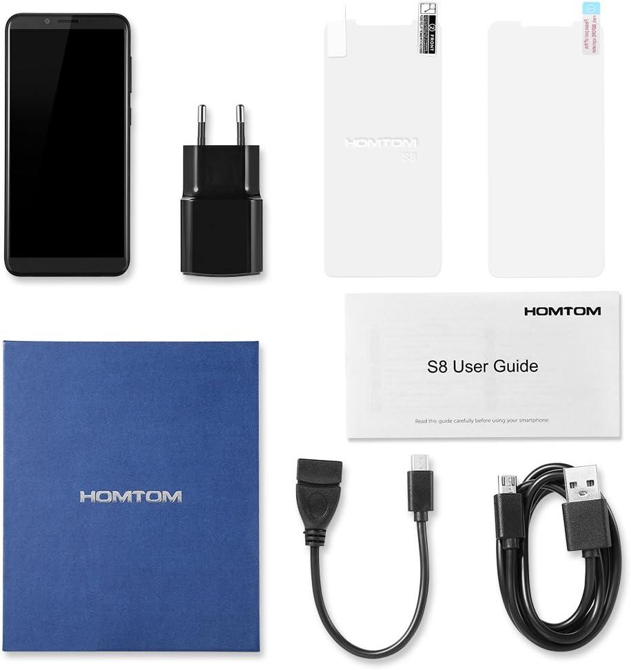 Homtom S8 Smartphone Libre, 4G Teléfono Inteligente(5.7 Pulgadas 720 x 1440 pixel HD Pantalla, MTK6705T Octa Core 1.5GHz, 4GB RAM + 64GB ROM,Android 7.0, 16.0MP y 5.0MP Cámara Trasera + 13.0MP Cámara
