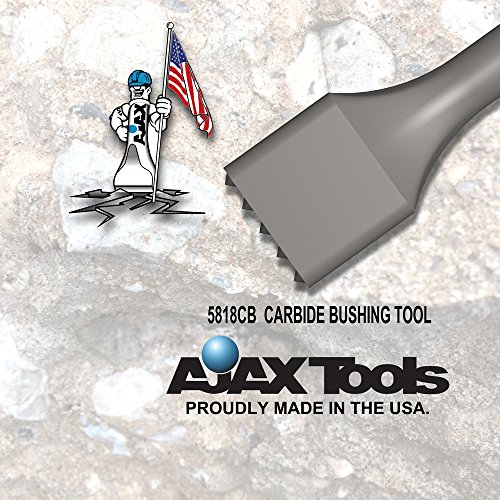 Ajax Tool Works 5218cb 1pc. Bushing Tool with 25 Carbide Tips, Electric Jack Hammer Chisel for Demolition and Concrete Breaker, 3/4'' Hex Demo, 9.5'' by Ajax Tool Works (Image #2)