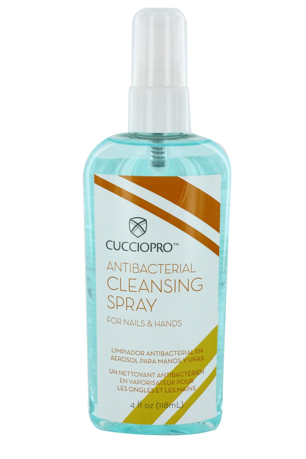 Cuccio Pro Antibacterial Cleaning Sanitiser Spray for Nails and Hands Before Any Manicure and Pedicure 118 ml 15700