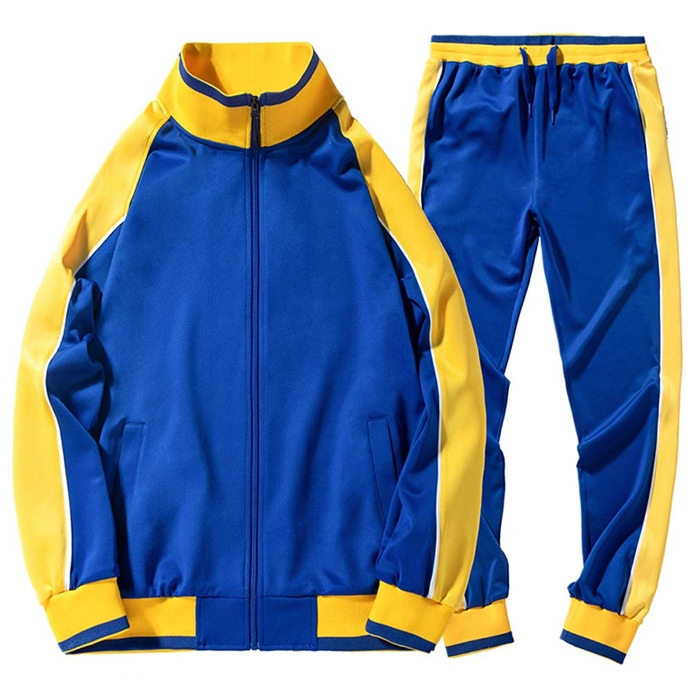 AOTORR Mens Tracksuit Athletic Sports Casual Full Zip Warm Jogging Sweatsuit