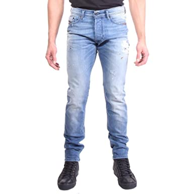 07618021 Amazon.com: Diesel Men's Tepphar 084FD Slim Carrot Jeans 89% Nylon ...