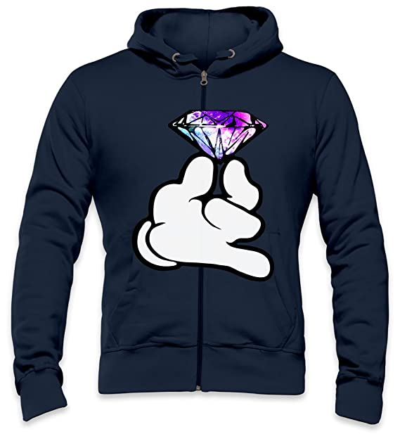 Dope Mickey Hands Diamond Mens Zipper Hoodie XX-Large: Amazon.es: Ropa y accesorios