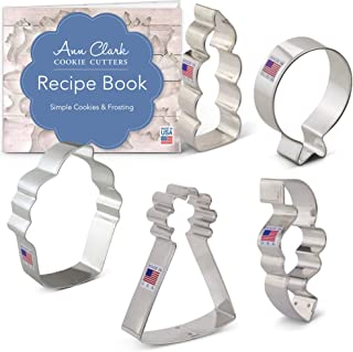 product image for Ann Clark Cookie Cutters 5-Piece Birthday Cookie Cutter Set with Recipe Booklet, Balloon, Party Hat, Cupcake, Candle and Confetti