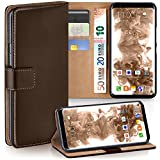 Galaxy S8 Plus Wallet Case, OneFlow [Credit Card Holder Slots and Kickstand] PU Wallet Case for Samsung Galaxy S8 Plus Faux Leather Flip Folio Cover - OXIDE-BROWN