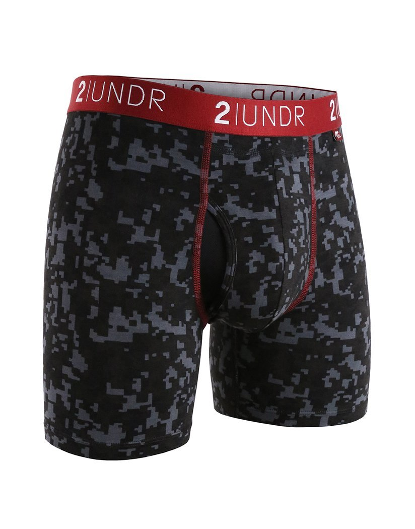 2UNDR Men's Swing Shift 6'' Boxer Brief Underwear Limited Edition Colors (Digi Print, 3X-Large) by 2UNDR