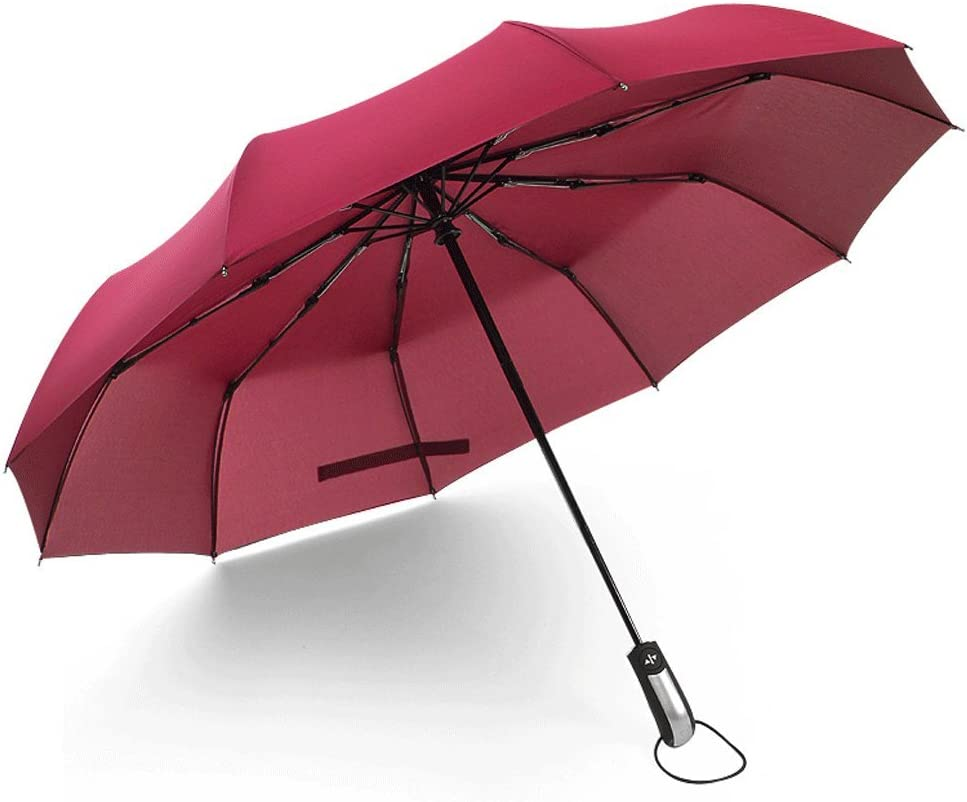 WMS Full Automatic Sun Umbrella UV Protection Umbrella Sunscreen Umbrella Two Use Color : E