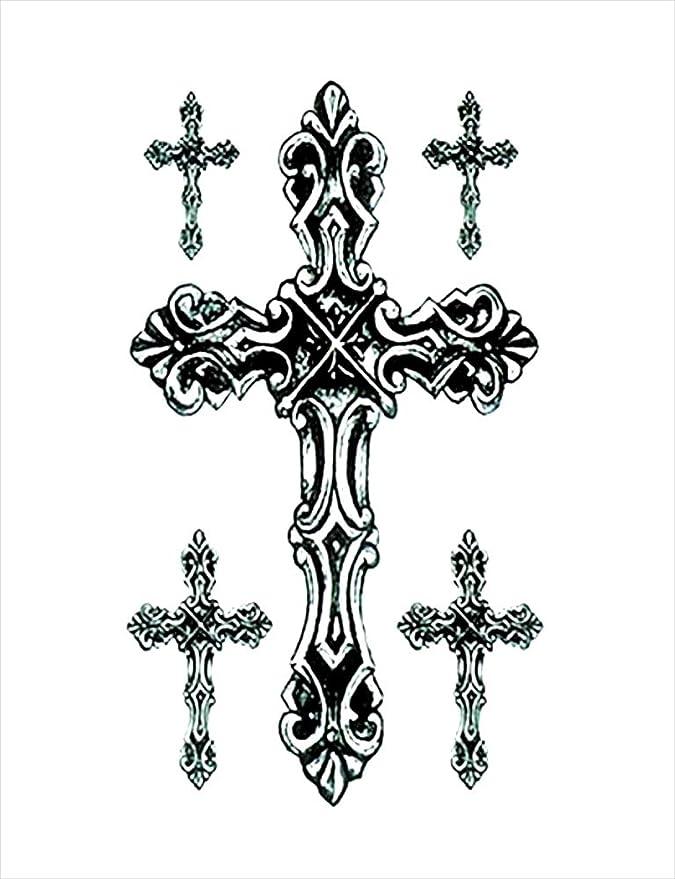 Tatuajes temporales de religión rosario para hombre y mujer ...