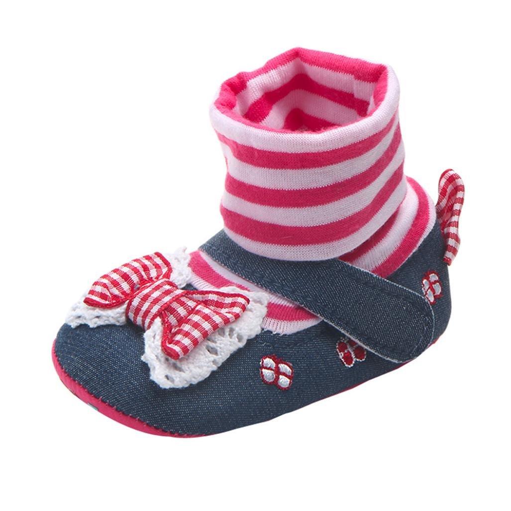 Zapatos de bebé niña Amlaiworld Primeros pasos para bebé Suela suave zapatos 0-18 Mes