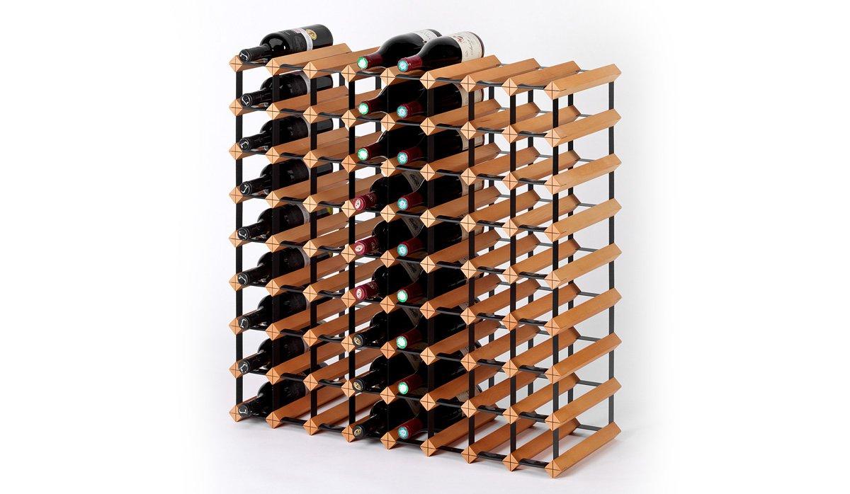 RAXI Marken Holz Holz Holz Weinregal Classic für 40x Flaschen - komplett montiert ab6caf