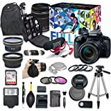Canon EOS Rebel T7i DSLR Camera Video Creator Kit with Canon EF-S 18-135mm f/3.5-5.6 IS STM Lens + Wide Angle Lens + 2x Telephoto Lens + Flash + SanDisk 32GB SD Memory Card + Accessory Bundle