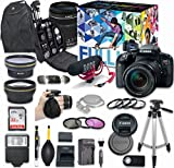 Canon EOS Rebel T7i Video Creator Kit with EF-S 18-135mm f/3.5-5.6 is STM Lens + Wide Angle + 2X Telephoto Lens + Accessory Bundle For Sale