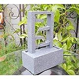 SereneLife SLTWF40 - Fuente de Agua Decorativa de 4 Niveles para Uso en Interior y al Aire Libre, portátil, eléctrica, de Mesa, Bomba Sumergible y Adaptador de Potencia