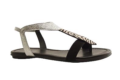 efa0816671f Reqins - Bernie - Sandale Salome - Argent  Amazon.fr  Chaussures et Sacs