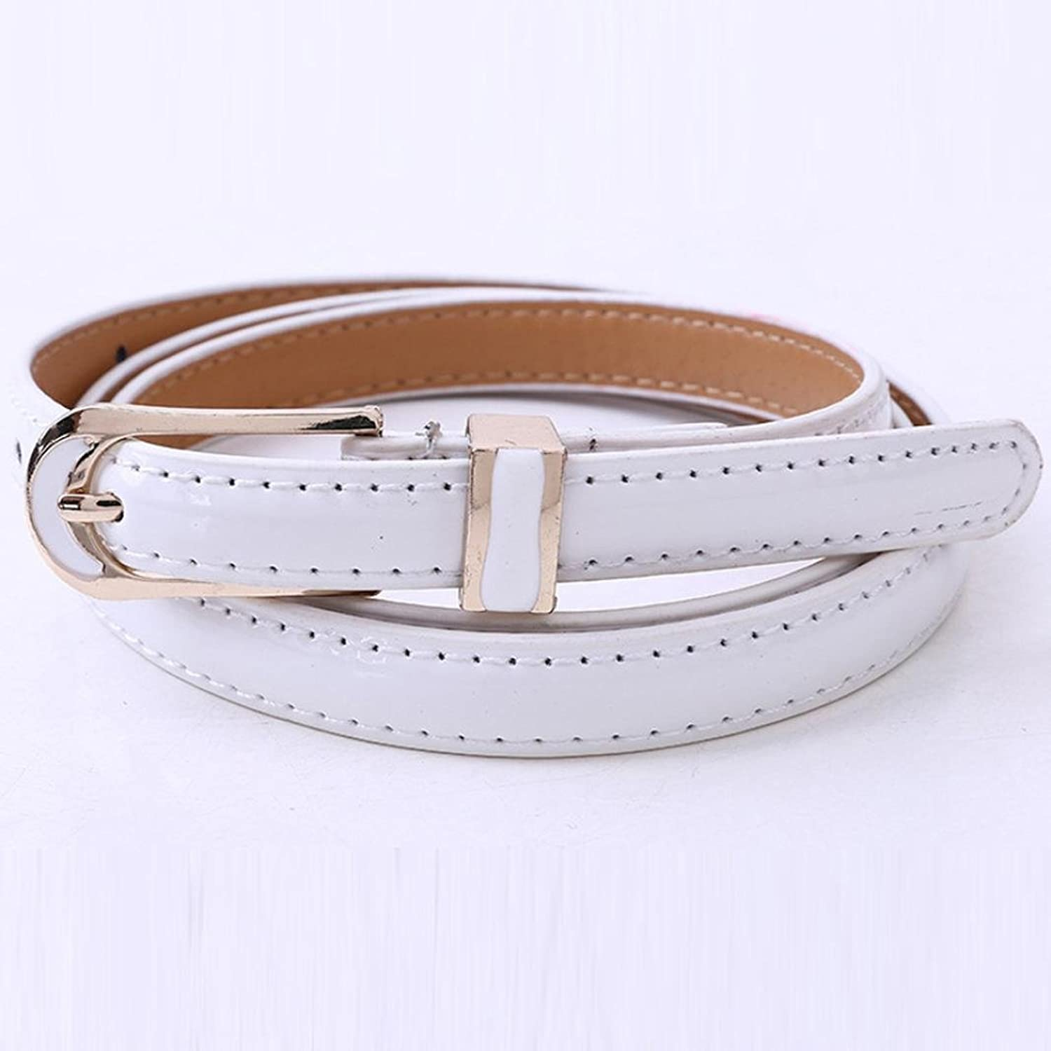 Allywit New Fashion Women's Vintage Accessories Casual Thin Leisure Leather Belt