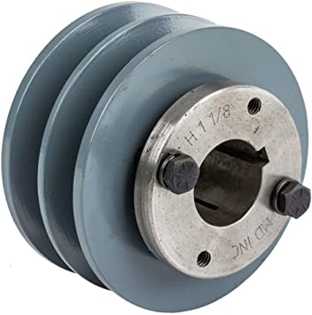 """Cast Iron pulley SHEAVE 3.75/"""" for electric motor 1 groove for B /& 5L  5//8  belts"""