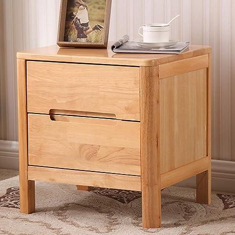 Amazon.com: QYSZYG Solid Wood Bedside Table Simple Oak ...