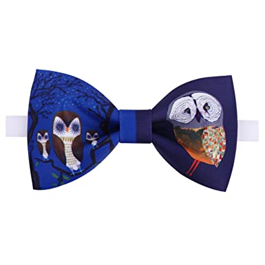 handmade red owl patterned bow tie cool bow tie at amazon men s