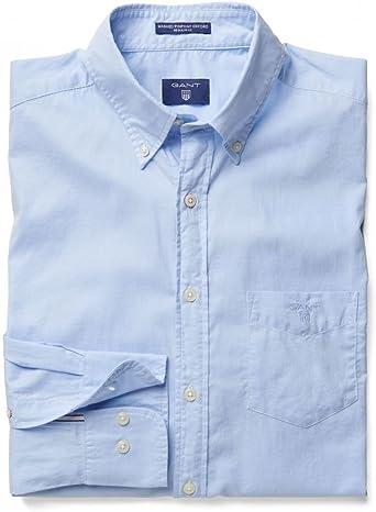 GANT Camisa Lavada óptica Azul Claro: Amazon.es: Ropa
