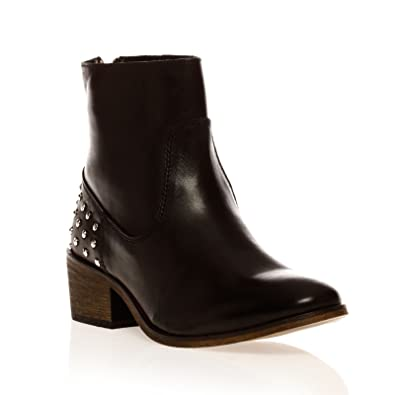 La fée maraboutée Boots - cloutées en cuir noir  Amazon.fr ... 0d74f7c0735a