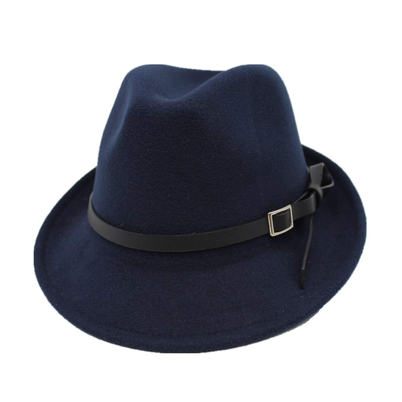 KKONION Fedoras Men Womens Fashion Jazz hat Summer Spring Black Woolen Cap Outdoor Casual Dancing Hat