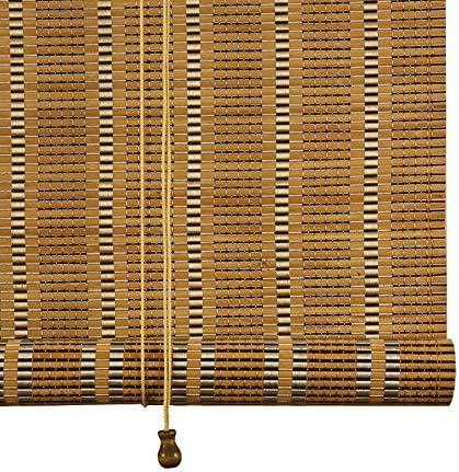 竹製ローラーブラインド、屋外テラスパーティションローラーブラインド、ビンテージ遮光茶室カーテン、屋内バルコニープライバシーカーテン、サイズはカスタマイズ可能ZDDAB