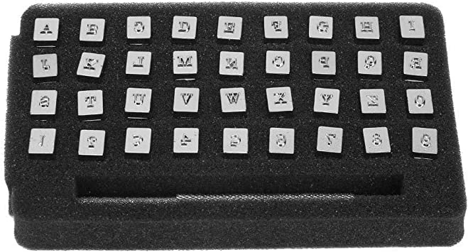 36pcs 13mm Metall Leder Stempel Set Punch Vintage Design Alphabet 26 Buchstaben /& 10 Zahlen Punch DIY Leathercraft Tool 3.5mm