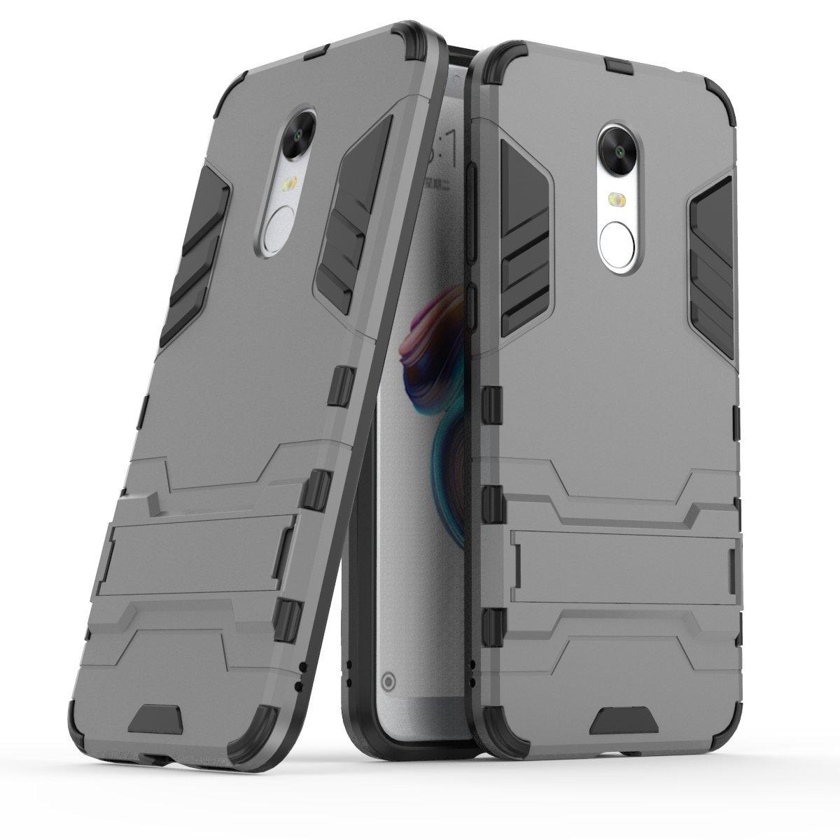 Xiaomi Redmi 5 Plus Custodia, CaseFirst Hybrid Cover antiurto Combo Armor Bumper Protettiva Anti-impronte Anti-scivolo 2 in 1 Rigida Custodia per Xiaomi Redmi 5 Plus (Nero)