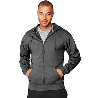 a7b2b46bf7d6 Amazon.com  Hanes Sport Men s Performance Fleece Zip up Hoodie  Clothing