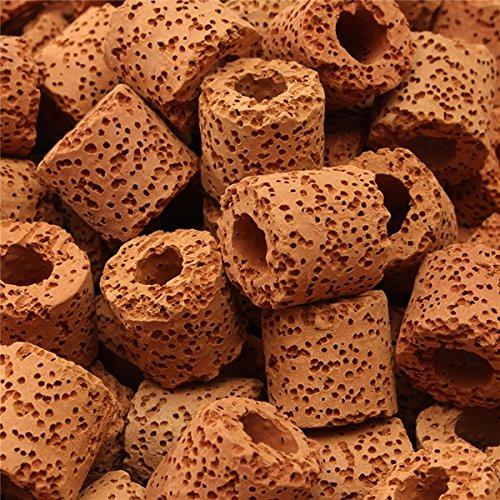 500 g de cerámica Bio Filtro medios porosos Anillos biológicos peces de acuario tanque