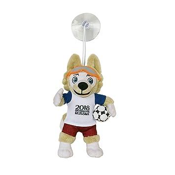 Mascota de peluche Zabivaka de la Copa Mundial de la FIFA 2018, con ventosa,
