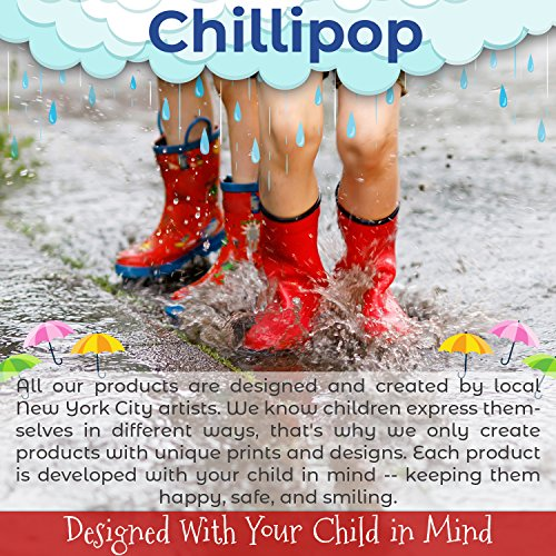 Chillipop Toddler 5-10 Girls Pink Dino PVC Rain Boot, Available in All Kid Sizes by Chillipop (Image #7)