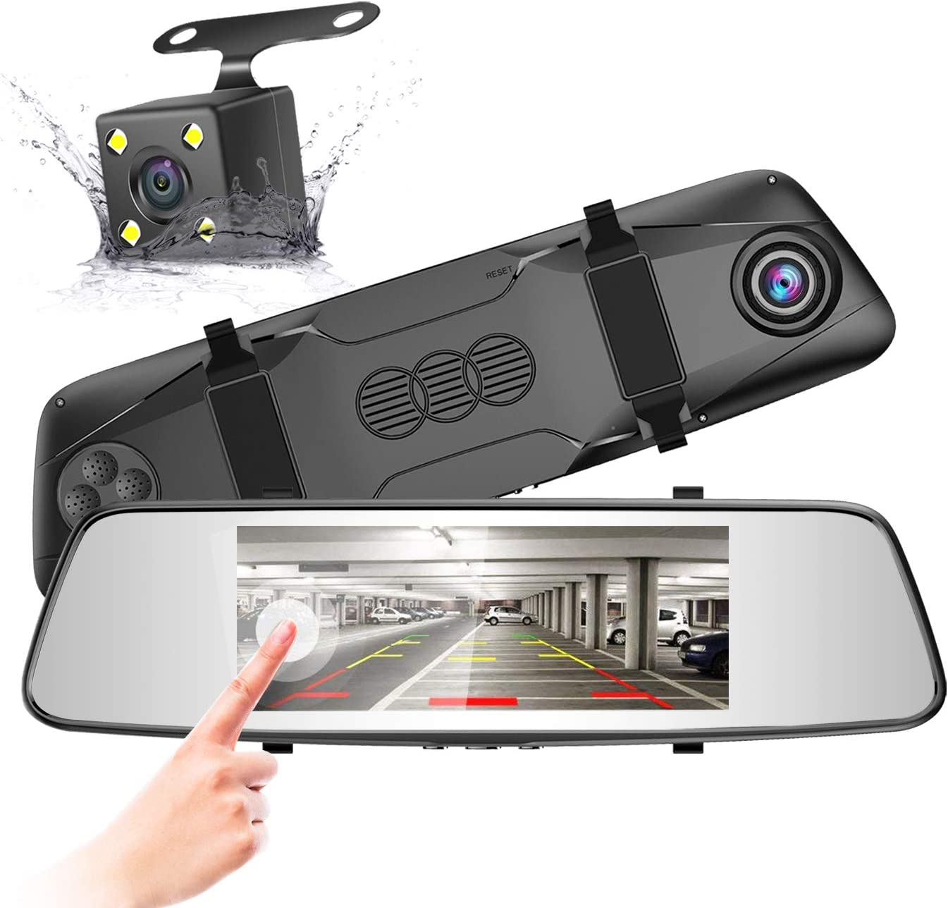 Amazon.com: Pruveeo D700 7-Inch Touch Screen Backup Camera Dash Cam Front and Rear Dual Channel with Rear View Reversing Camera
