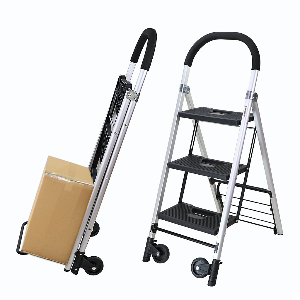 Finether-Carretilla de Mano con Escalera Plegable: Amazon.es: Industria, empresas y ciencia