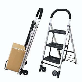 Finether-Carretilla de Mano con Escalera Plegable