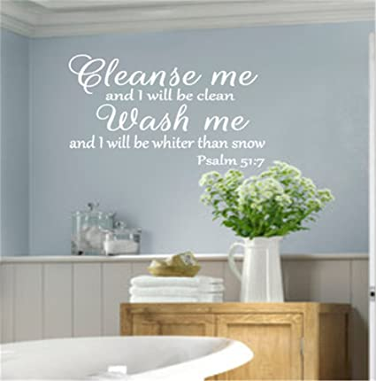 Amazon Com Wall Decal Stickers Quotes Saying And Words Diy Cleanse