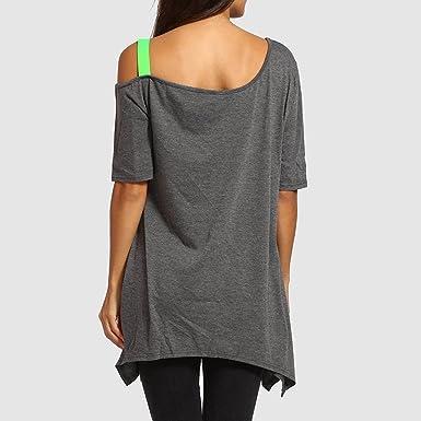 Camisetas Mujer Tallas Grandes, Blusa Mujer Elegante Camiseta de ...