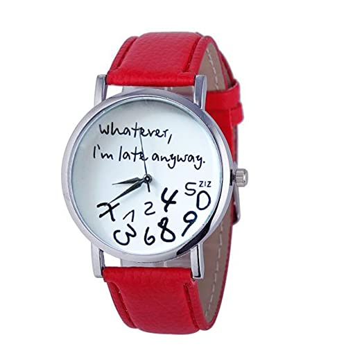 4c525da089e6e Womens Quartz Watches with Words,POTO Unique Analog Fashion Clearance Lady  Watches Female Watches on Sale Casual Wrist Watches for Women,Alloy Round  ...