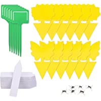 12 Pack Yellow Sticky Fruit Fly Trap and Fungus Gnat Traps Killer,Dual-Sided Gnat Trap Butterfly Flower Rectangle Glue…