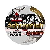 Ashconfish PEライン 4編 釣り糸 (0.4号 0.6号 0.8号 1号 1.2号 1.5号 2号 2.5号 3号 3.5号 4号 5号 6号 7号 8号 9号 10号) (150m 200m 300m 1000m) X4 超強力 高感度 耐磨耗 低伸度 釣りライン 釣糸