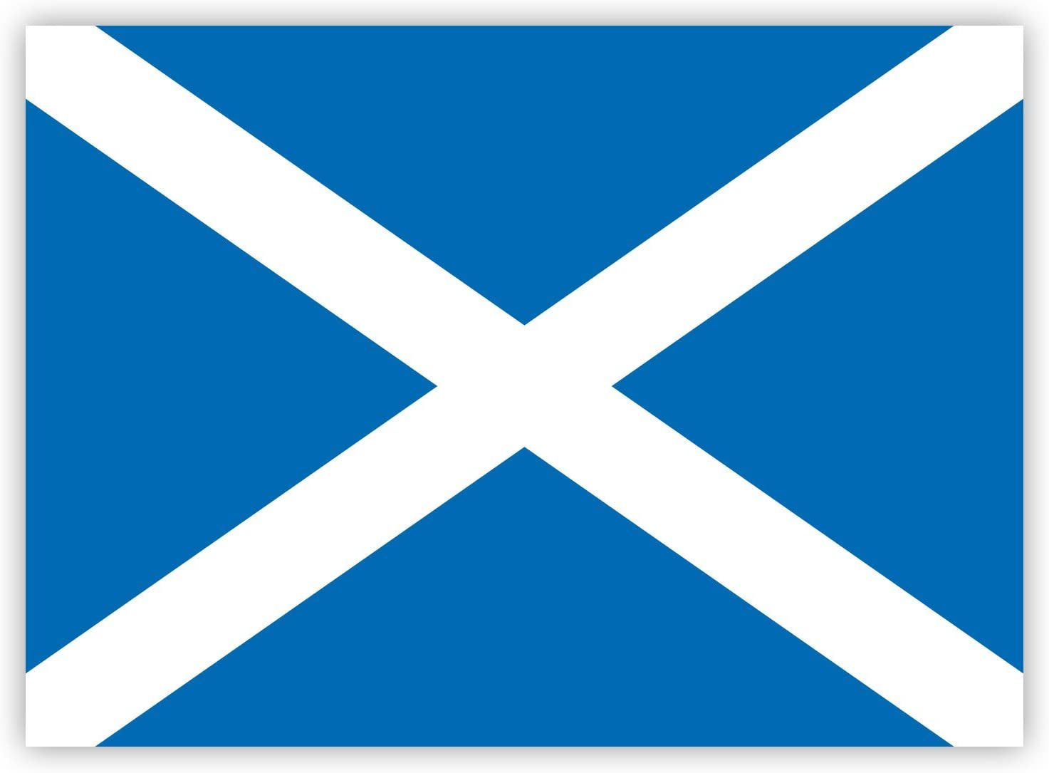 Saltire Cross-Fahne HouseholdBasics 2 x Aufkleber Schottland-Flagge 7,4 x 5,2 cm f/ür Innen und au/ßen