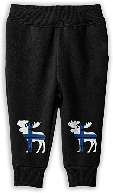 Unisex Baby Jogger Pants NJKM5MJ Moose Finland Flag Sweatpants