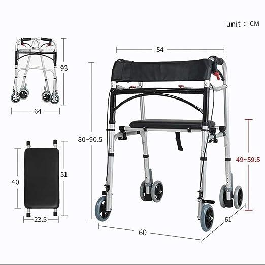 OULYO- Bastidor for Caminar, Andador Plegable de Aluminio Ligero ...