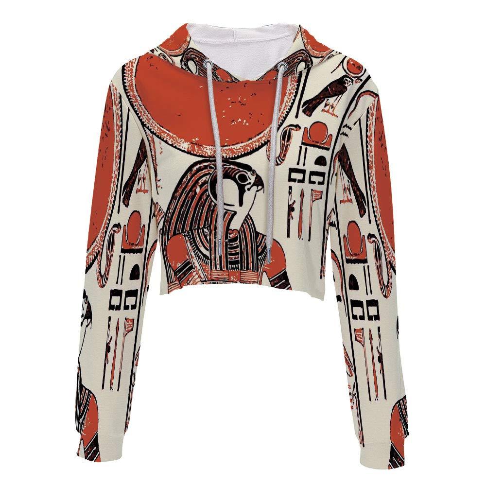 Sweatshirt Women 3D Pullover Sweatshirts S//M MultiGraphic of Anubis of Old Egyp