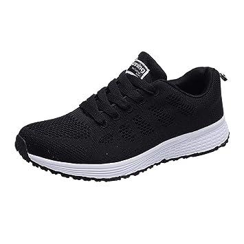 WWricotta LuckyGirls Zapatillas de Correr Malla Rejilla Hombre Casual Cómodas Calzado para Andar Deporte Zapatos de Viaje Planos Bambas de Running ...