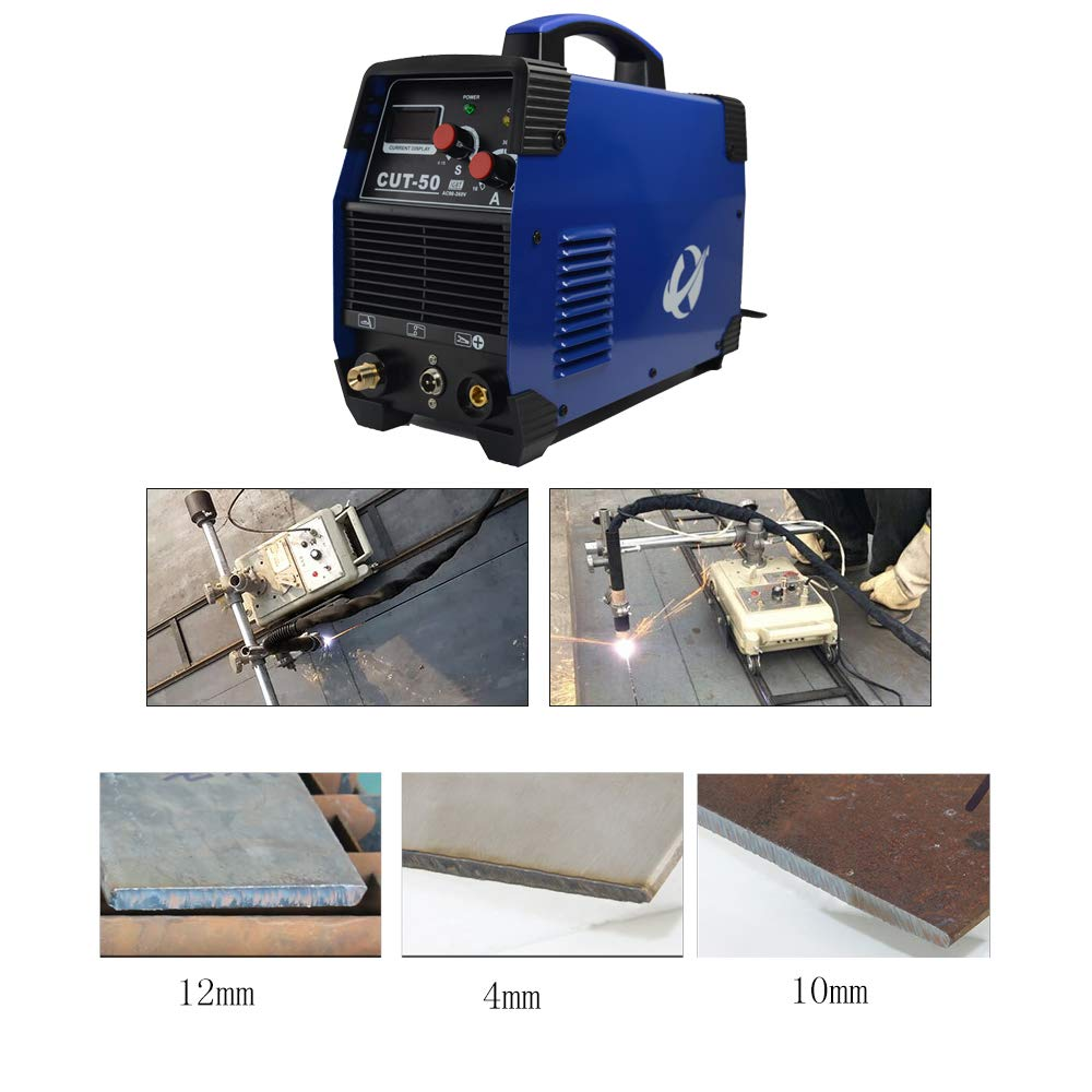 Plasma Cutter, CUT50 50 Amp 110V/220V Dual Voltage AC DC IGBT Cutting Machine with LCD Display and Accessories Tools by CORAL (Image #4)