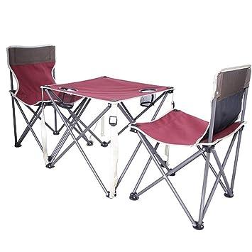 FUBULECY Conjuntos de sillas y mesas de Playa Plegables ...