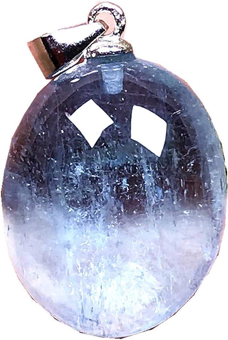 DUOVEKT Colgante de Aguamarina, Natural Océano Azul Aquamarine Piedra Joyería para Mujer Hombre Cristal Oval 17x14x7mm Cuentas Piedra Piedra Piedra Piedra AAA