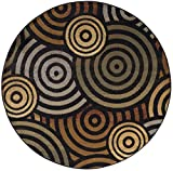 Universal Rugs Albany Contemporary Geometric Multi-Color Round Area Rug, 8′ Round For Sale