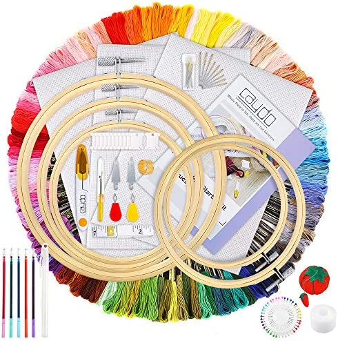 Caydo Embroidery Instructions Threads Beginners product image