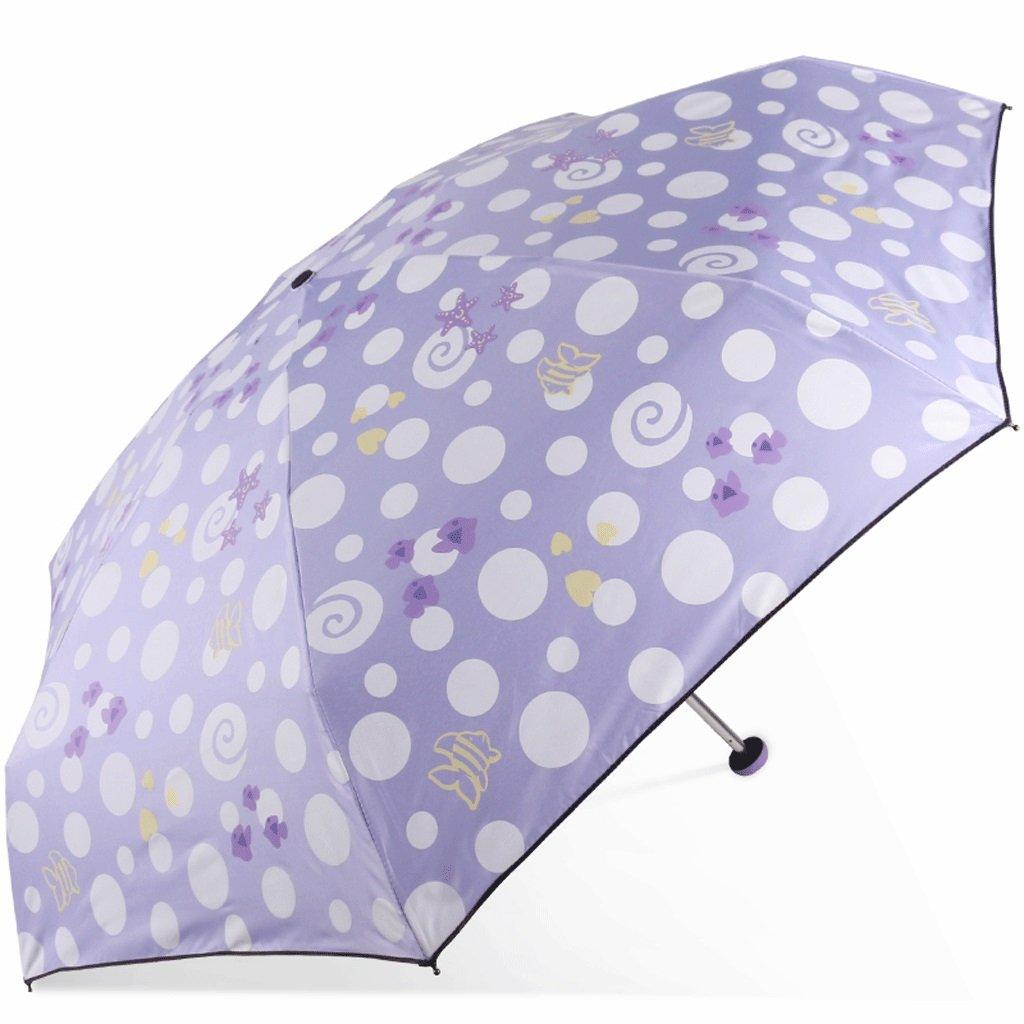 HUXIUPING Ombrellone per ombrellone con Protezione UV (colore   Viola)